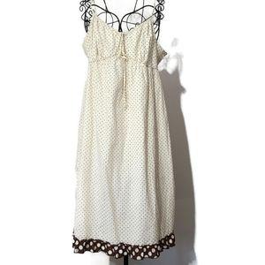 Gap polka dot maternity dress